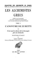 Les Alchimistes grecs
