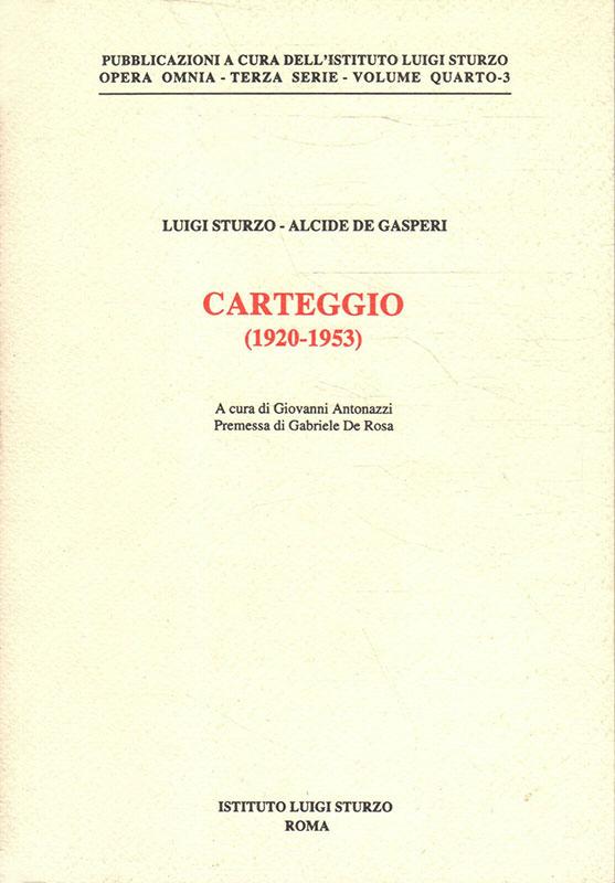 Carteggio (1920-1953)