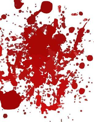 Blood Splatter Two-column Cornell Notes Composition Notebook