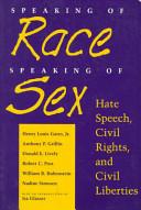 Speaking of Race, Speaking of Sex