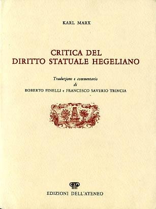 Critica del diritto statuale hegeliano