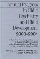 Annual Progress in Child Psychiatry and Child Development 2000-2001