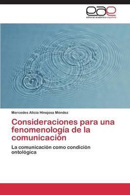 Consideraciones para una fenomenología de la comunicación