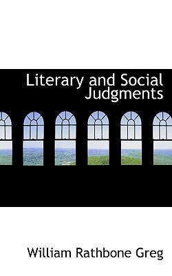 Literary and Social Judgments