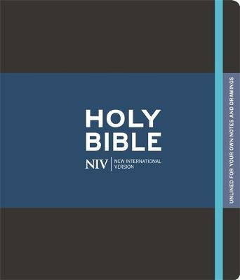 NIV Black Journalling Bible with Unlined Margins