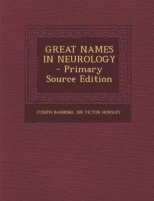Great Names in Neurology