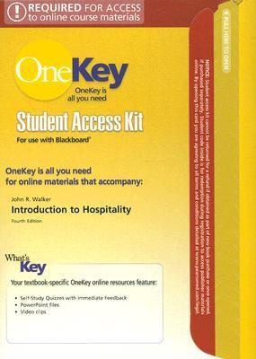 Introduction to Hospitality Onekey Blackboard Student Access Kit