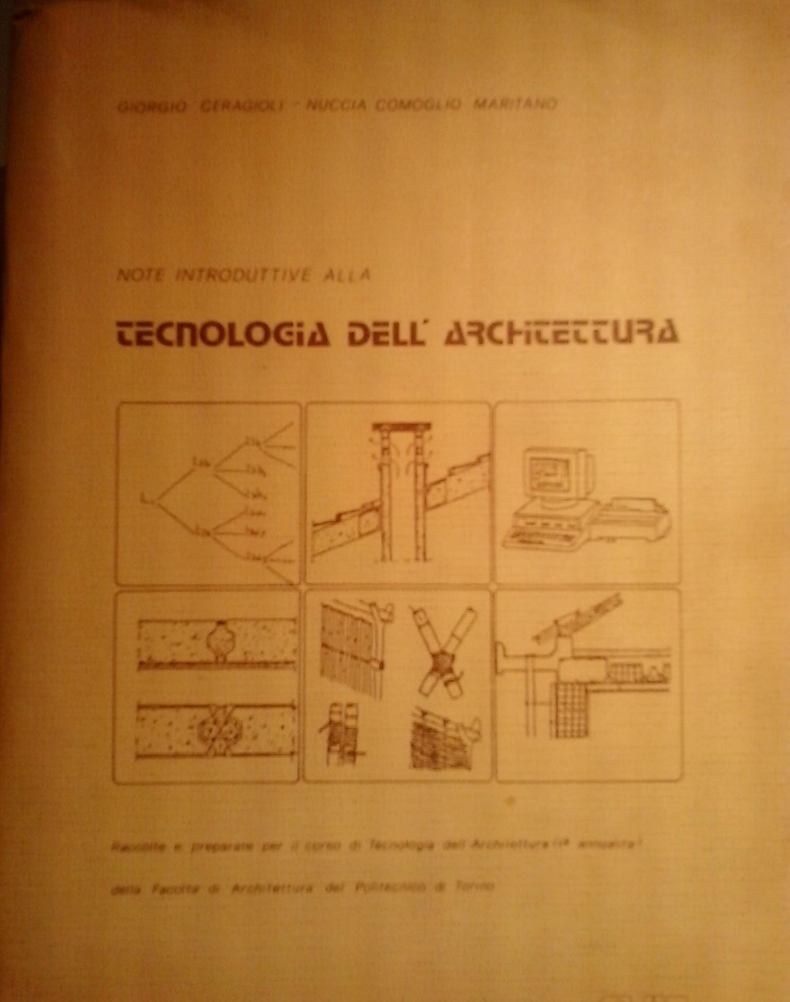 Note introduttive alla tecnologia dell'architettura