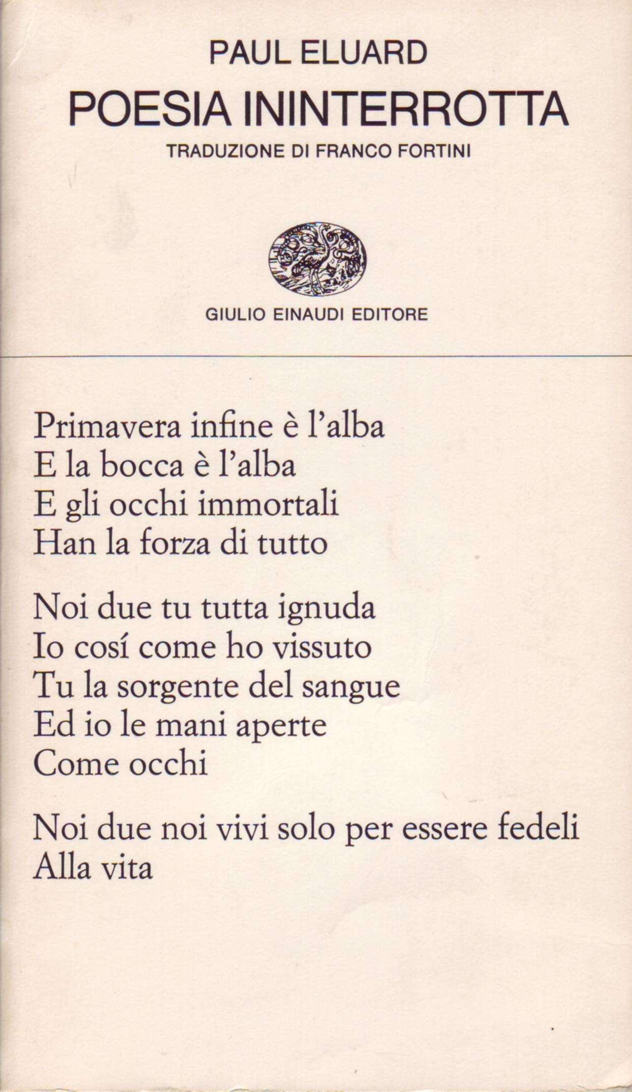 Poesia ininterrotta