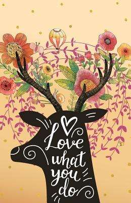 Love What You Do, Deer in the Flower Garden Composition Book Journal and Diary
