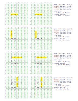 Fifty Scrabble Box Scores Games 1251-1300