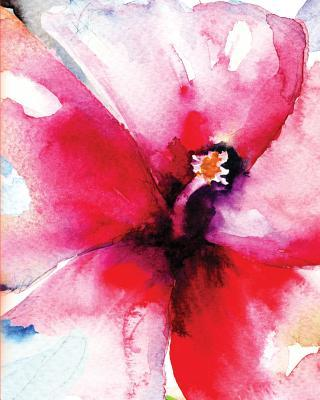 Red Flower Watercolor Journal