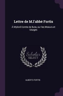 Lettre de M.L'Abbé Fortis