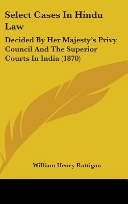 Select Cases in Hindu Law