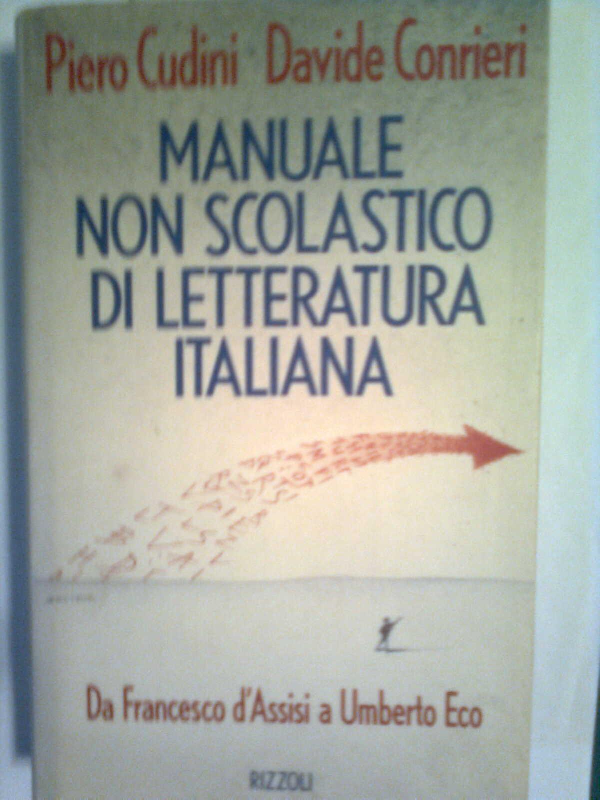 Manuale non scolastico di letteratura italiana