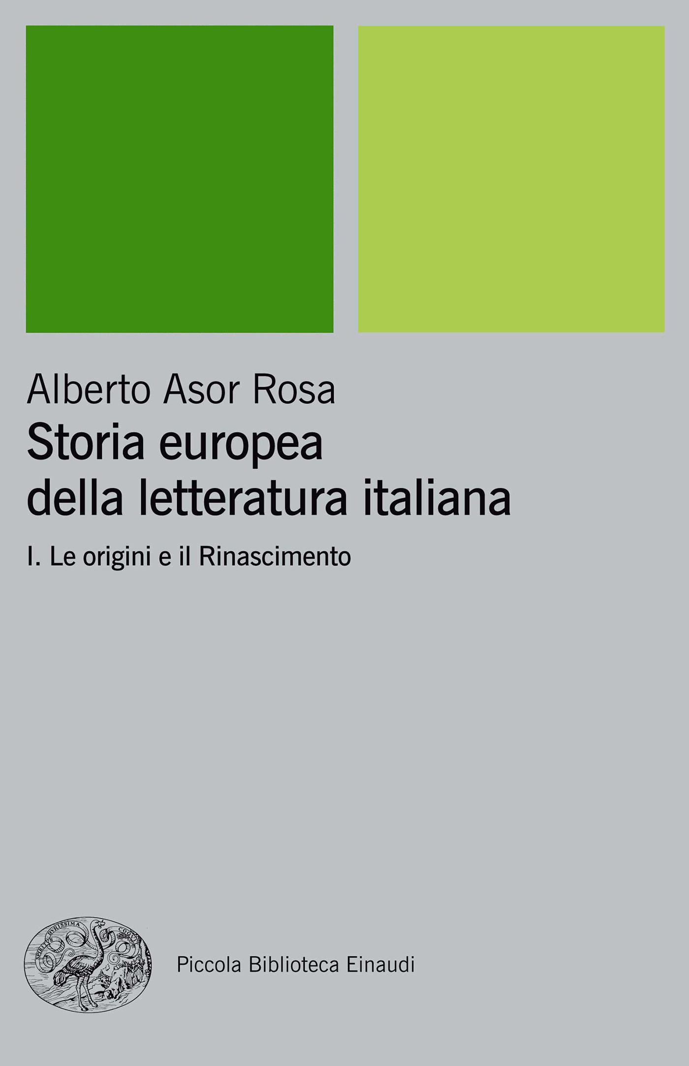 Storia europea della letteratura italiana vol. 1