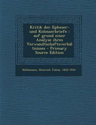 Kritik Der Epheser- ...
