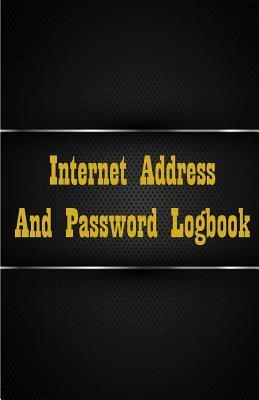 Black Internet Address and Password Logbook