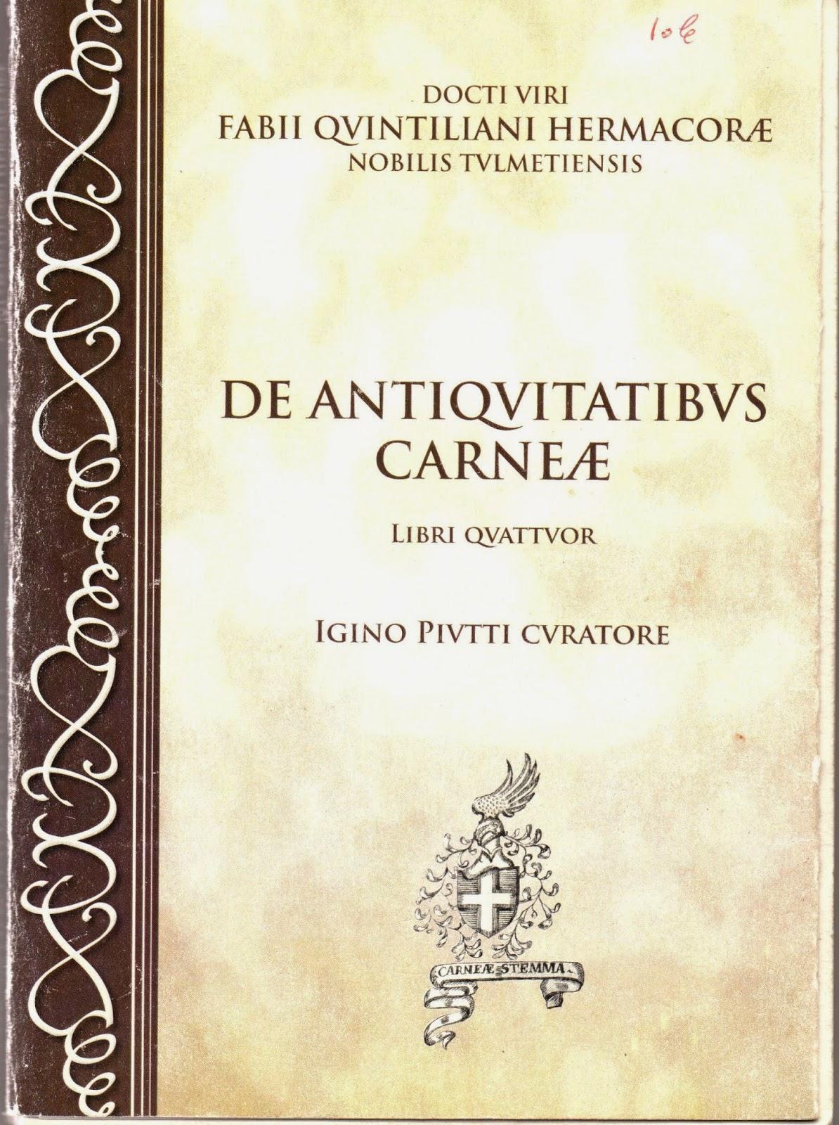 De antiquitatibus Carneæ