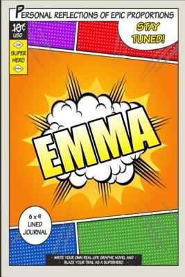 Superhero Emma Lined Journal