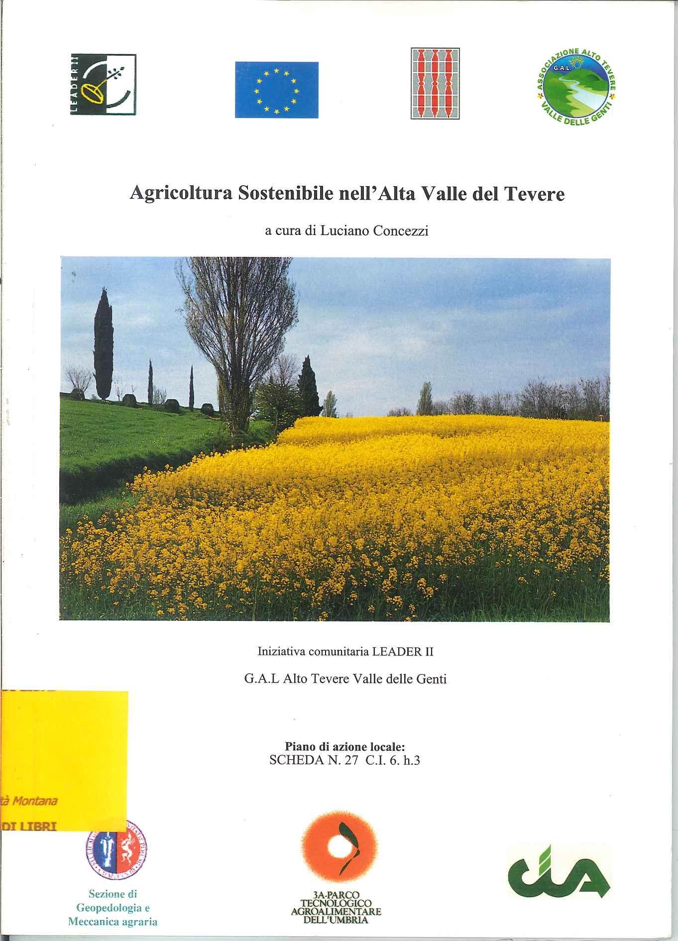 Agricoltura sostenibile nell'Alta Valle del Tevere