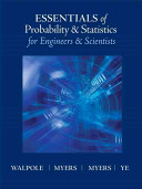 Essentials of Probabilty & Statistics for Engineers & Scientists