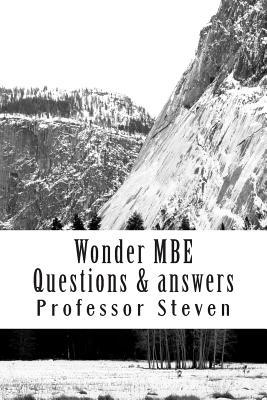 Wonder MBE Questions & Answers