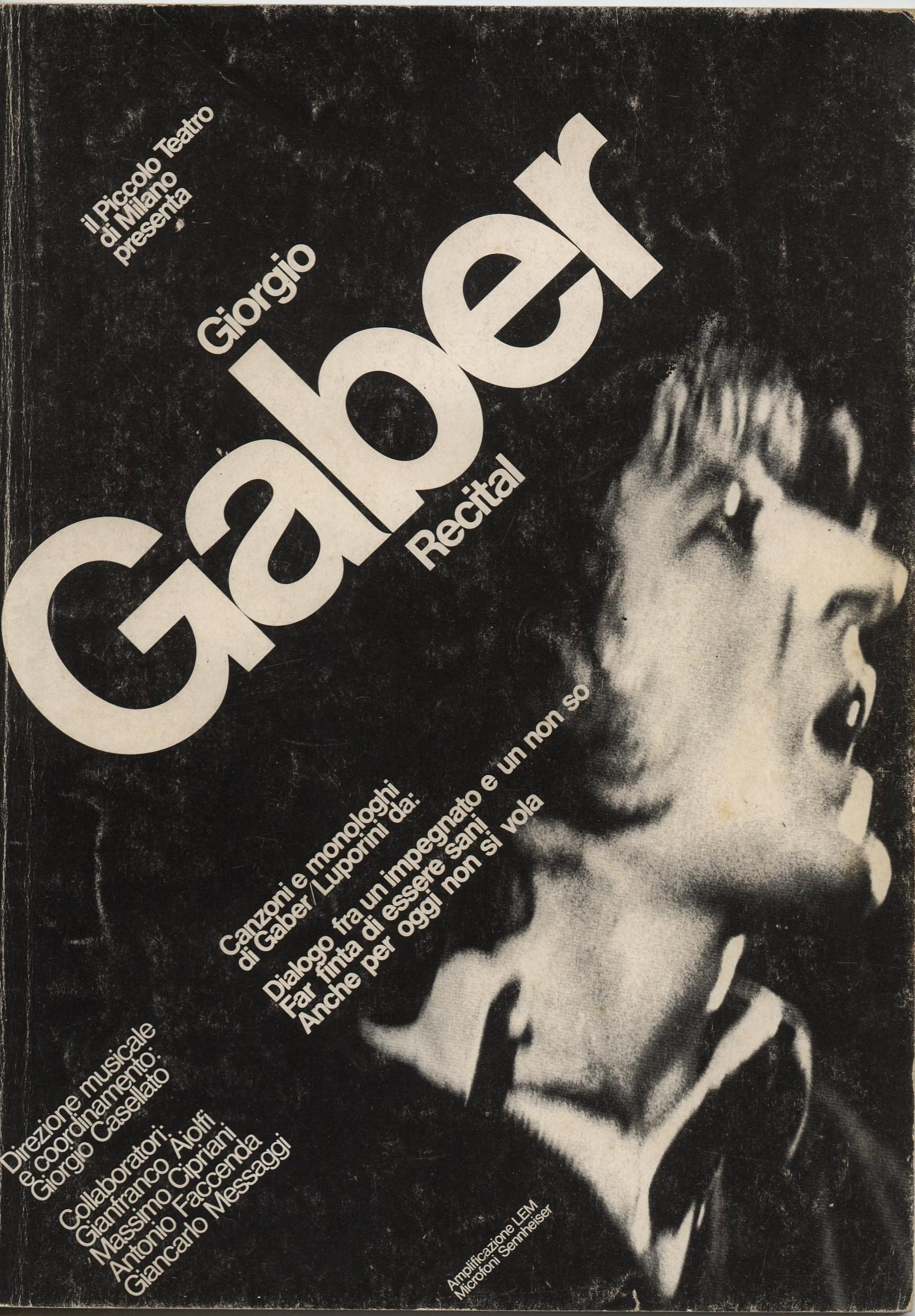 Giorgio Gaber - Recital