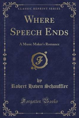 Where Speech Ends
