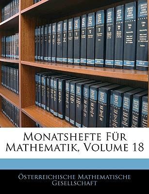 Monatshefte Fr Mathematik, Volume 18