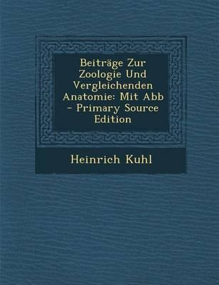 Beitrage Zur Zoologie Und Vergleichenden Anatomie