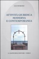 Attività giuridica moderna e contemporanea