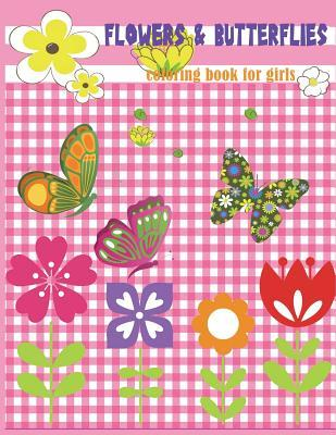 Flowers & Butterflies Coloring book for girls