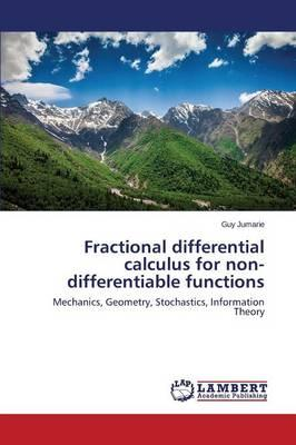 Fractional differential calculus for non-differentiable functions