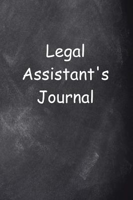Legal Assistant's Journal Chalkboard Design
