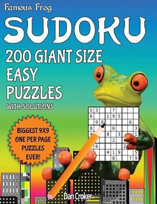 Famous Frog Sudoku 200 Giant Size Easy Puzzles Biggest 9 X 9 One Per Page Puzzles Ever!