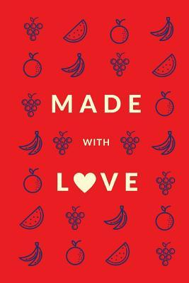 Made With Love Red Apple Premium Blank Cookbook