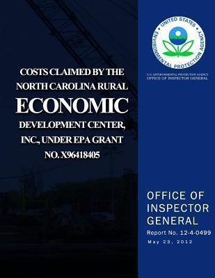 Costs Claimed by the North Carolina Rural Economic Development Center, Inc., Und