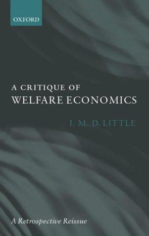 A Critique of Welfare Economics