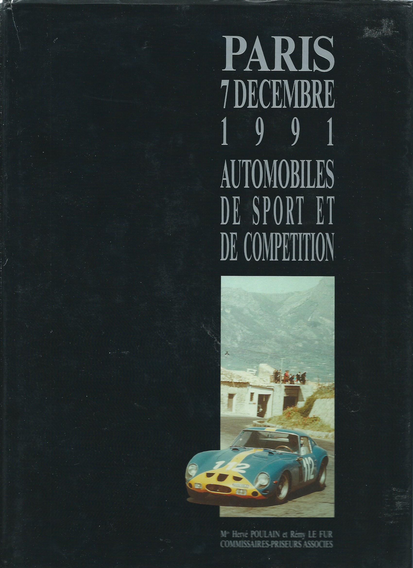 Automobiles de légende, de sport et de compétition