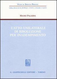 L'atto unilaterale di risoluzione per inadempimento