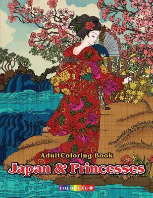 Adult Coloring Book Japan & Princesses