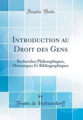 Introduction au Droit des Gens