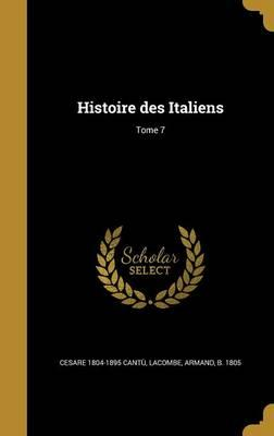 FRE-HISTOIRE DES ITALIENS TOME