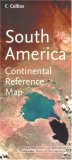 South America Continental Reference Map by Collins
