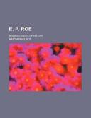 E. P. Roe; Reminiscences of His Life