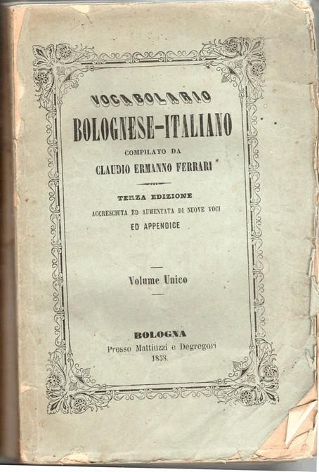 Vocabolario bolognese-italiano