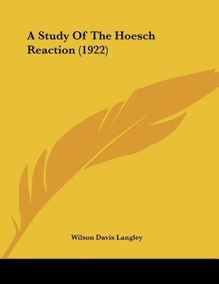 A Study Of The Hoesch Reaction