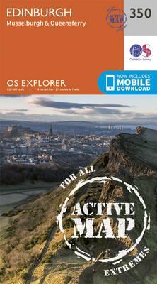 OS Explorer Map Active (350) Edinburgh