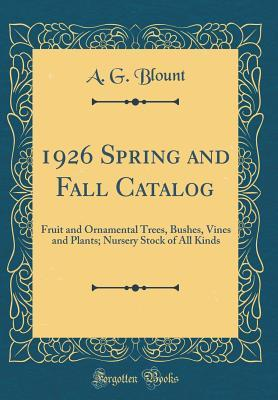 1926 Spring and Fall Catalog